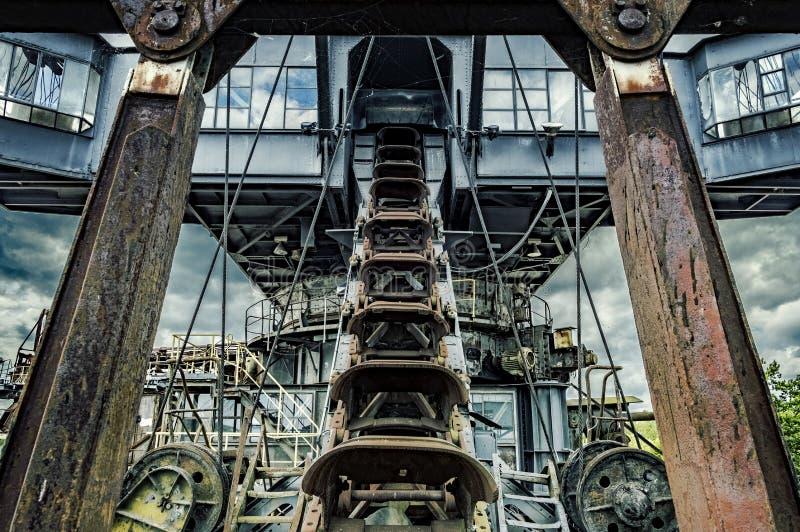 Cavador de la mina de carbón de Ferropolis imagen de archivo