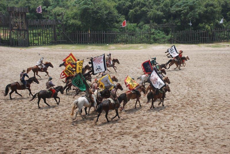 Cavalaria chinesa antiga fotos de stock