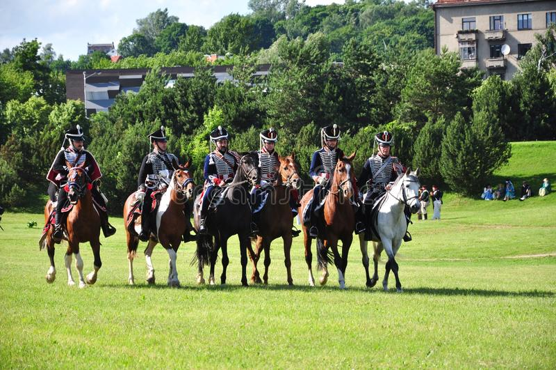 Cavalaria do Hussar foto de stock