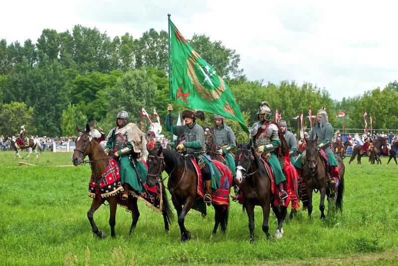 Cavalaria do russo fotos de stock