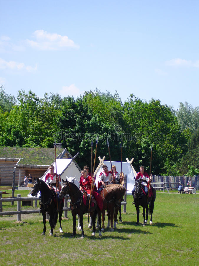 Cavalaria do russo foto de stock