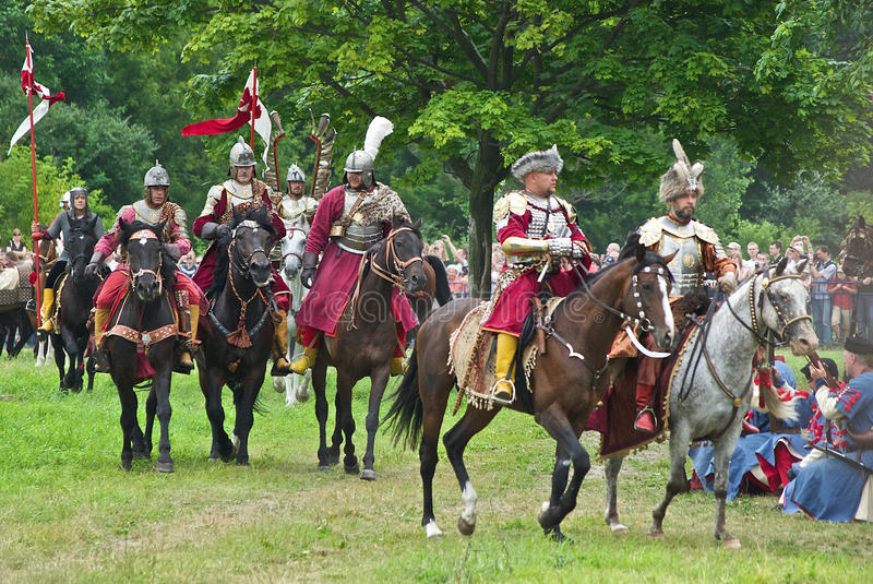 Cavalaria polonesa imagens de stock
