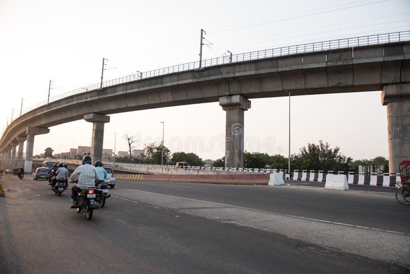 Cavalcavia a Jaipur fotografia stock libera da diritti
