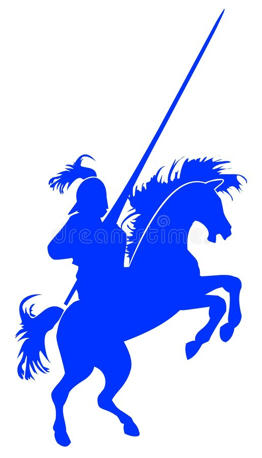 Cavaleiro ilustração stock
