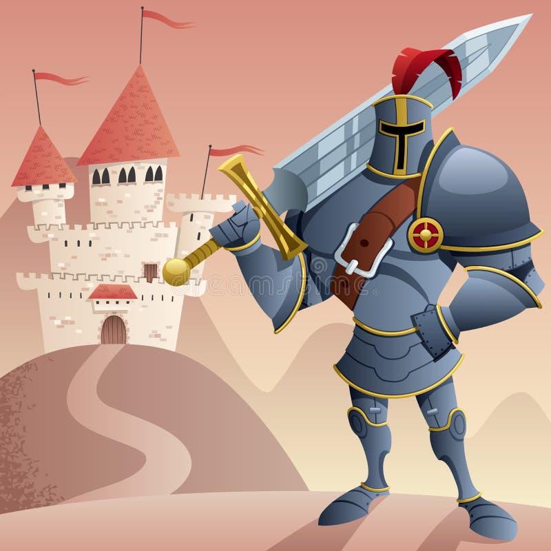 Cavaleiro 2 ilustração royalty free