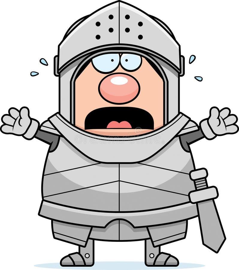 Cavaleiro assustado dos desenhos animados ilustração royalty free