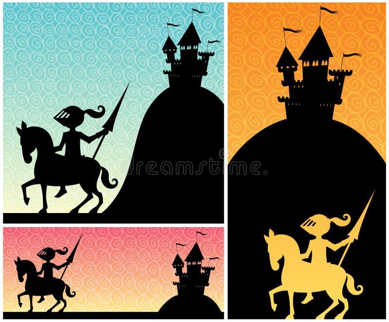 Cavaleiro Backgrounds ilustração royalty free