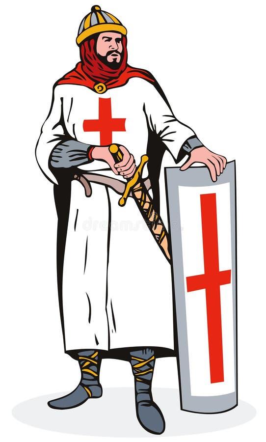 Cavaleiro com armadura ilustração royalty free