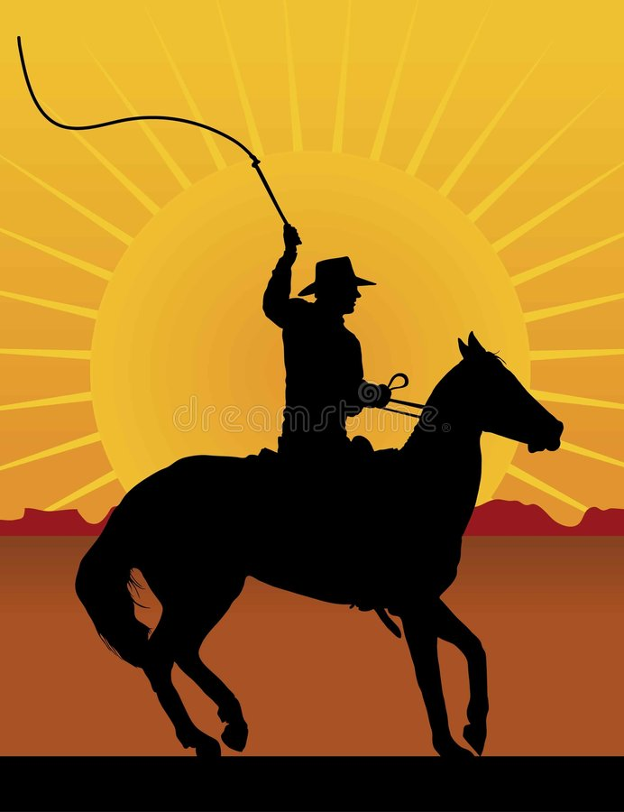 Cavaleiro com chicote ilustração royalty free
