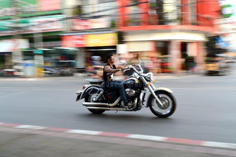 Cavaleiro da motocicleta foto de stock