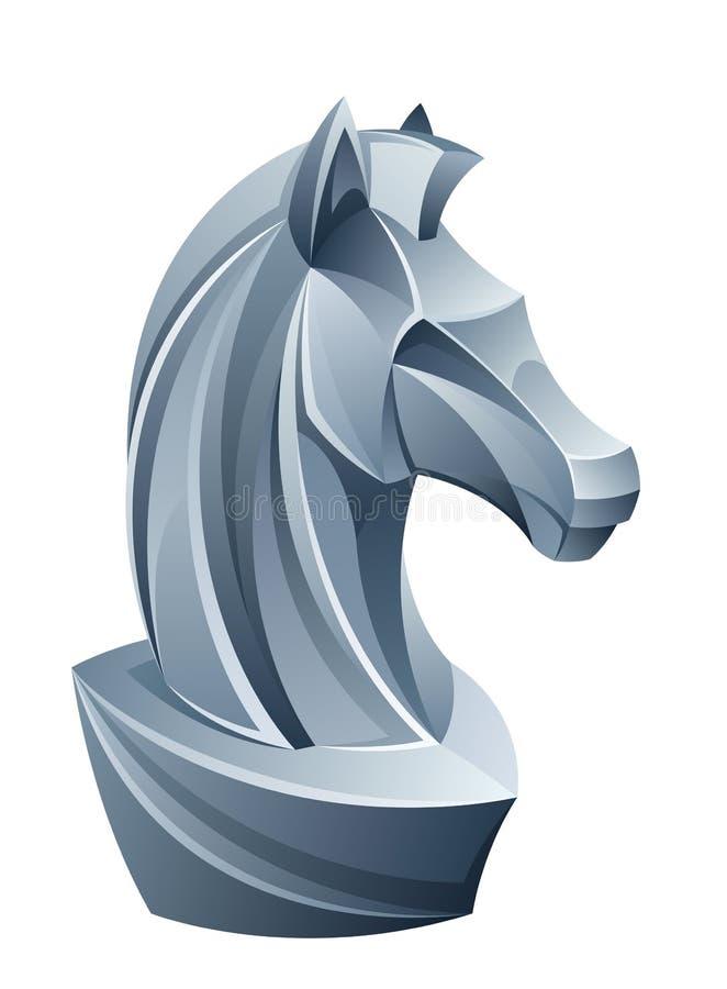Cavaleiro da xadrez ilustração royalty free