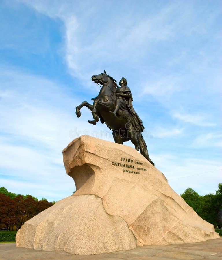Cavaleiro de cobre, Petersburgo foto de stock