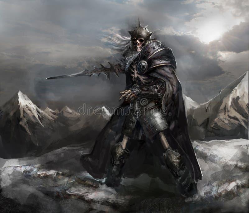 Cavaleiro de esqueleto ilustração do vetor