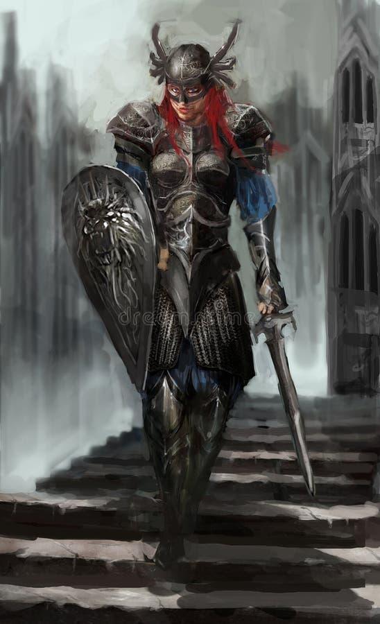 Cavaleiro de Femail ilustração stock