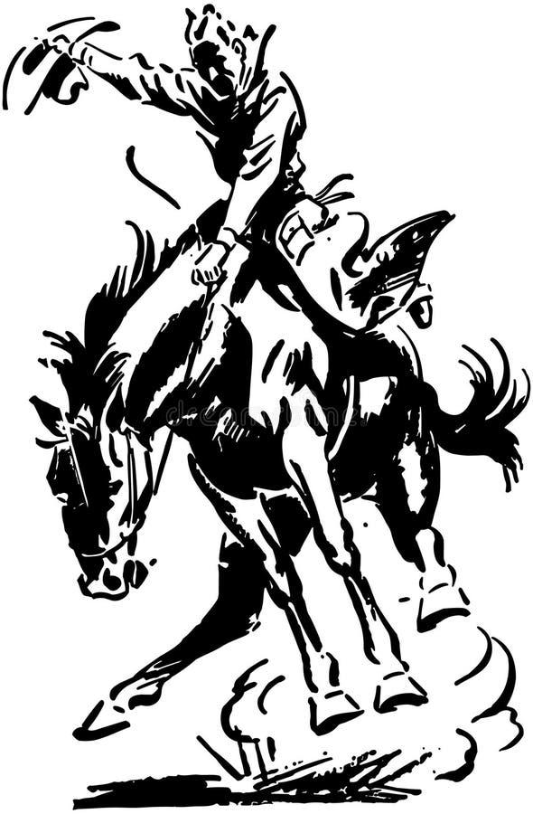 Cavaleiro de rodeio ilustração do vetor