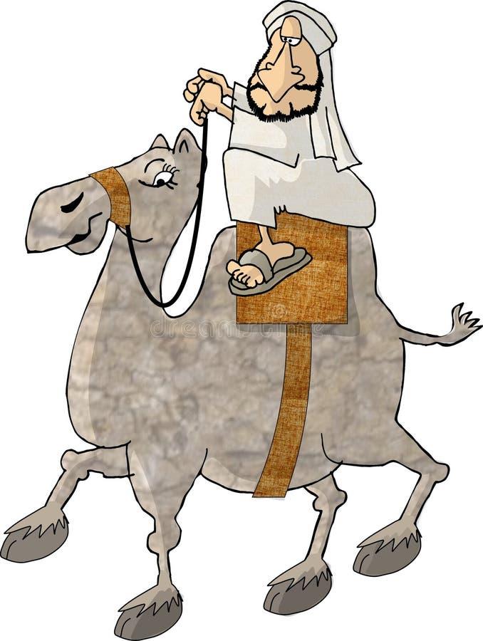 Cavaleiro do camelo ilustração royalty free