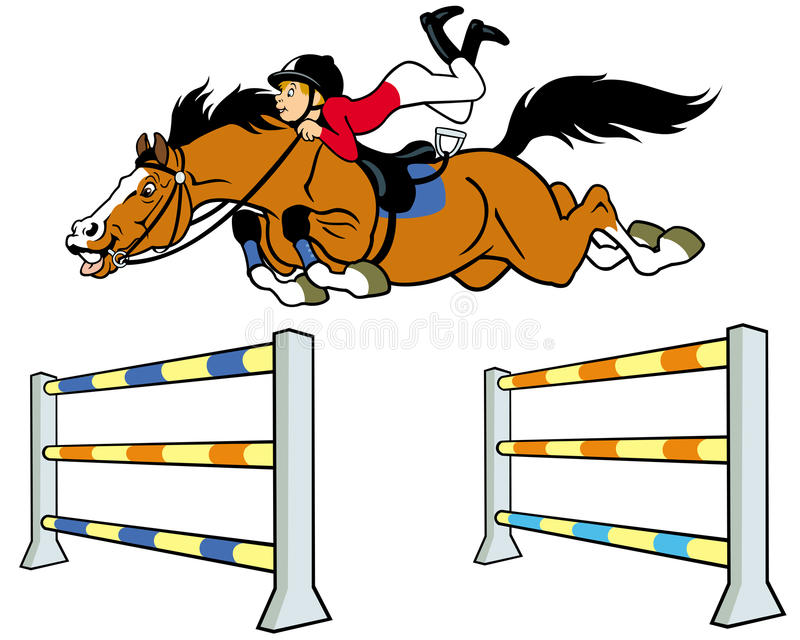 Cavaleiro do cavalo do menino ilustração stock