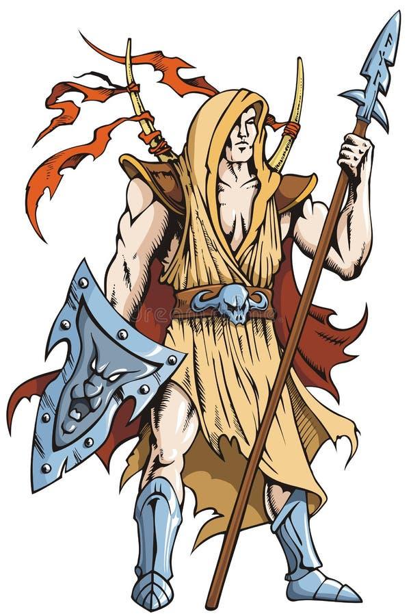 Cavaleiro do guerreiro ilustração do vetor