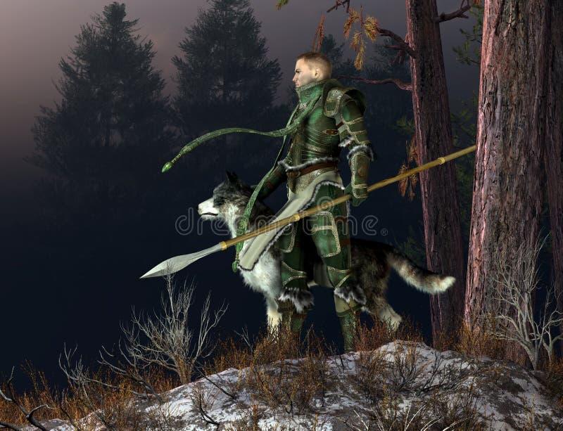 Cavaleiro do inverno ilustração royalty free