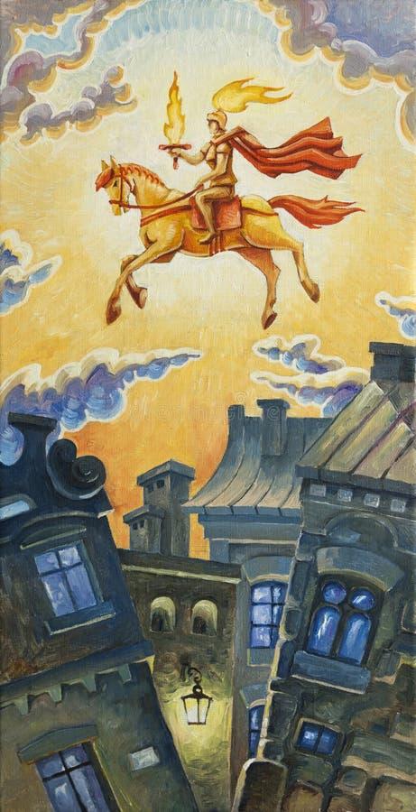 Cavaleiro do nascer do sol ilustração royalty free