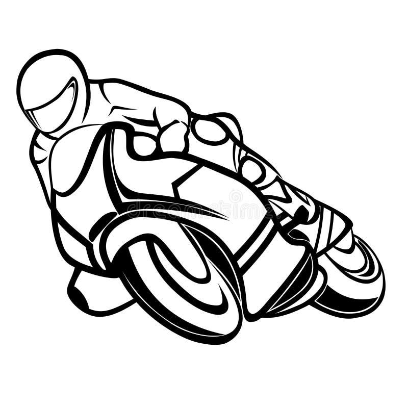 Cavaleiro do velomotor ilustração do vetor