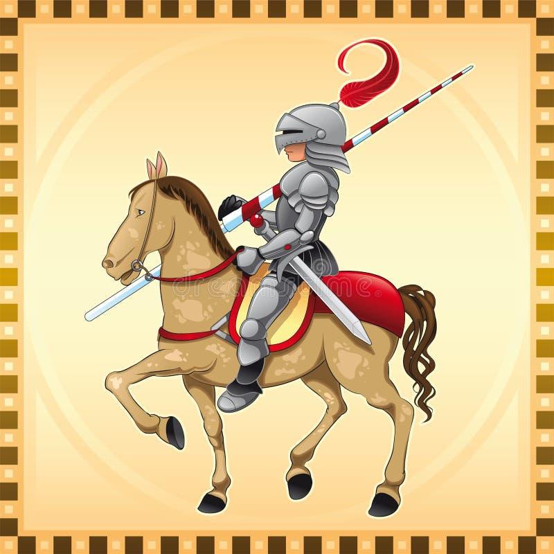 Cavaleiro e cavalo ilustração do vetor
