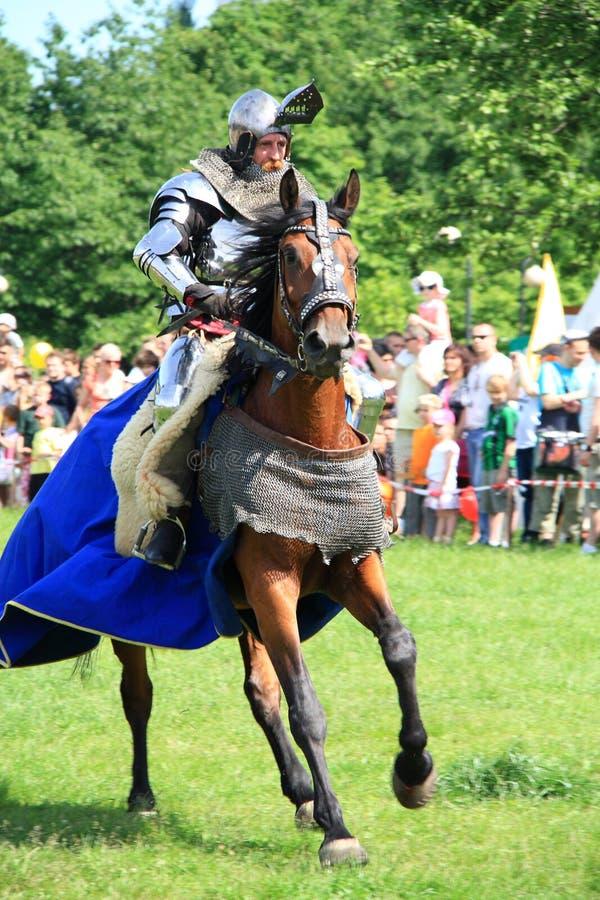 Cavaleiro em horseback fotografia de stock