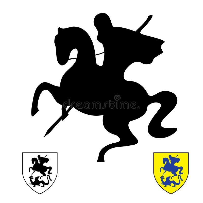 Cavaleiro em um cavalo. Saint George ilustração do vetor