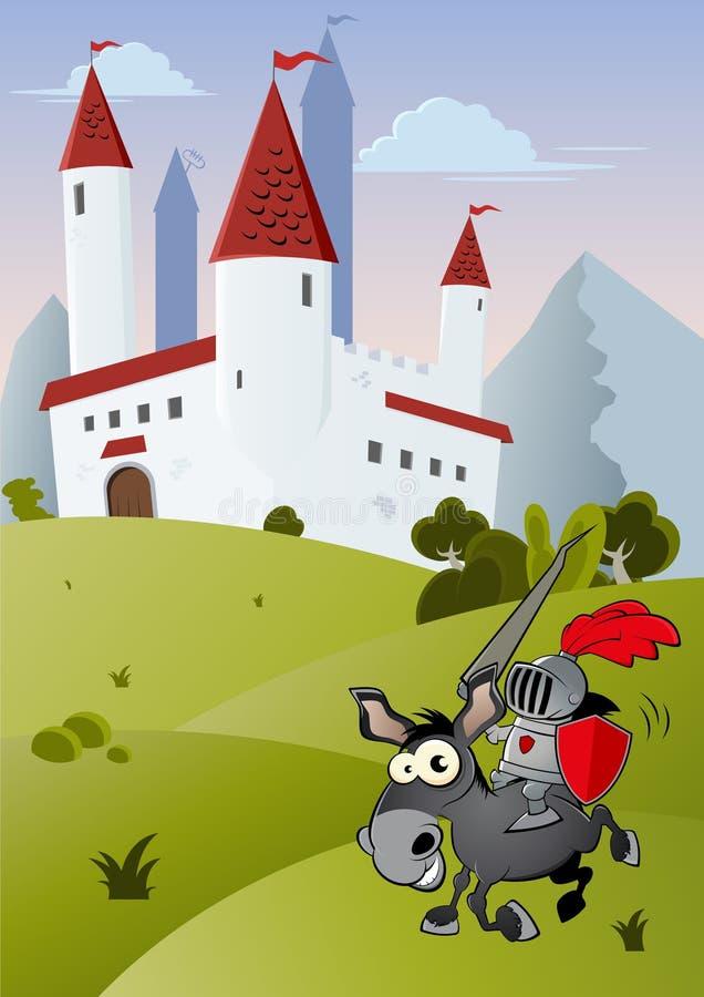 Cavaleiro engraçado dos desenhos animados ilustração royalty free