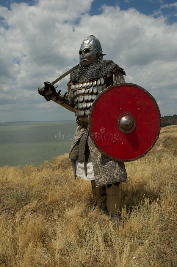 Cavaleiro europeu medieval fotografia de stock