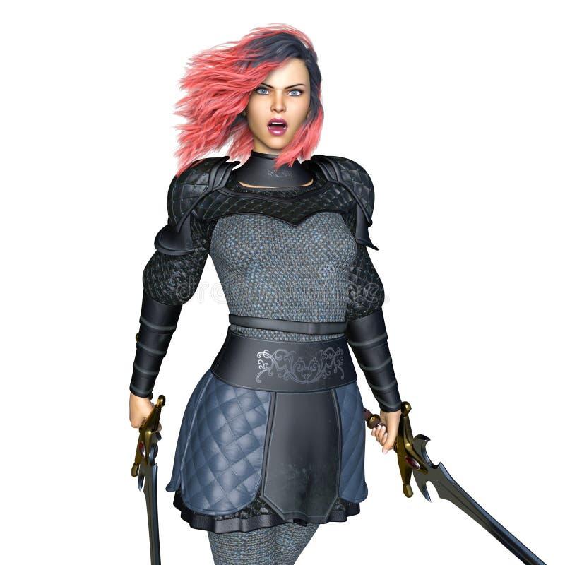 Cavaleiro fêmea ilustração stock