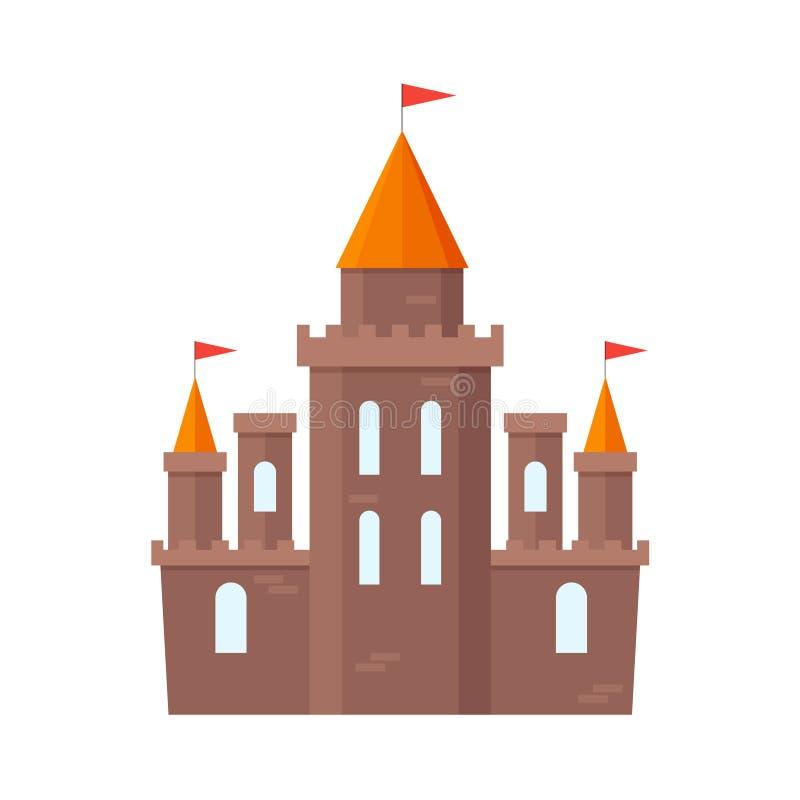 Cavaleiro Flat do castelo Vetor ilustração royalty free