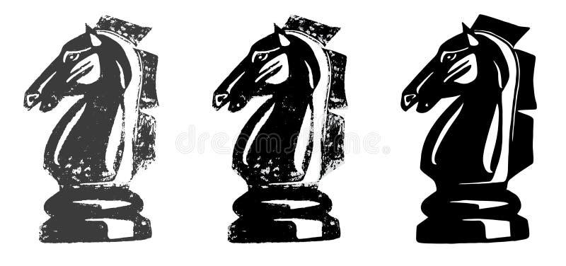 Cavaleiro Horse da xadrez ilustração royalty free