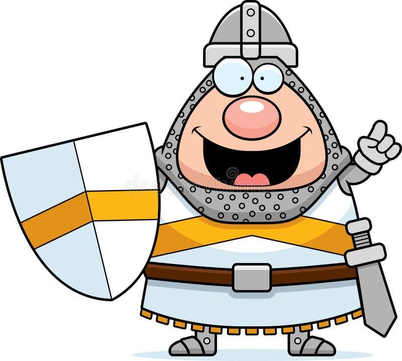 Cavaleiro Idea dos desenhos animados ilustração do vetor