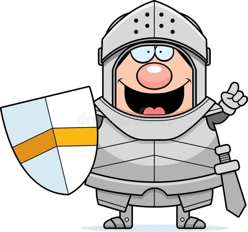 Cavaleiro Idea dos desenhos animados ilustração stock