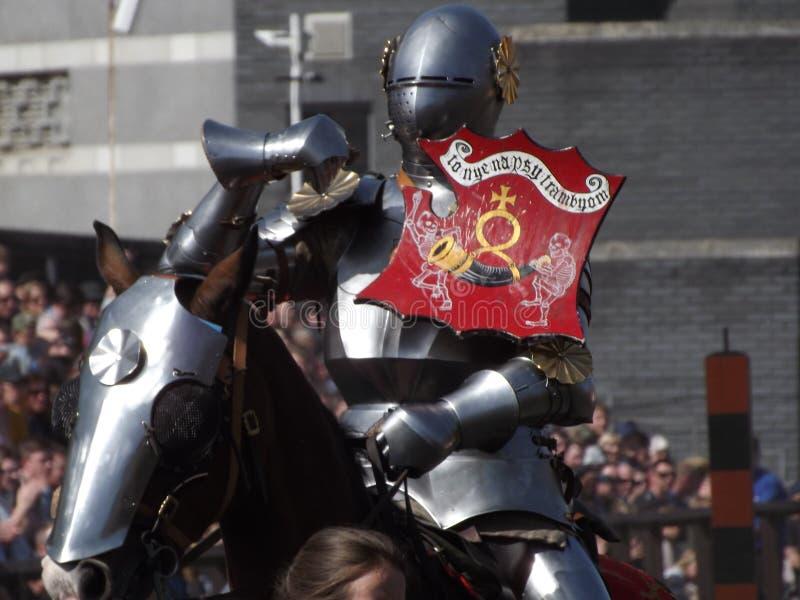 Cavaleiro Jousting fotografia de stock royalty free