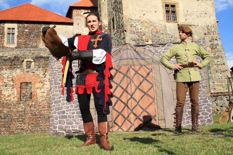 Cavaleiro - julgamento da leitura do nobre foto de stock royalty free