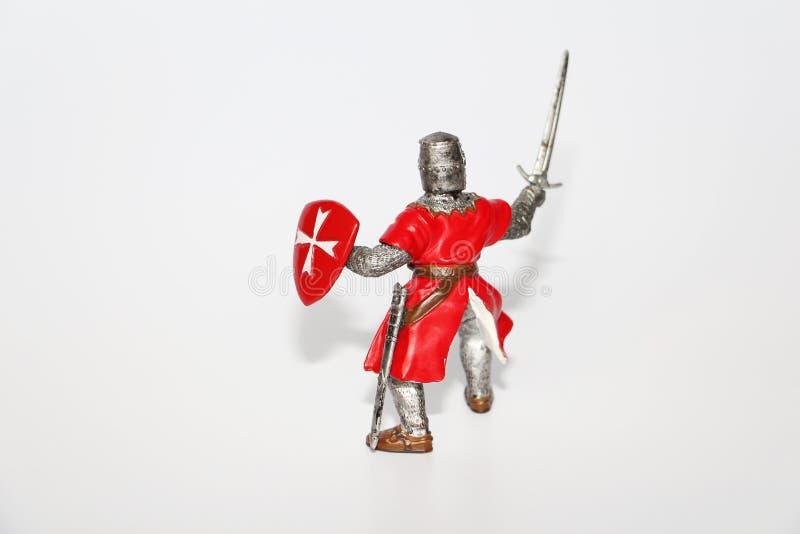 Cavaleiro malt?s em um fundo branco Brinquedo para crian?as fotografia de stock