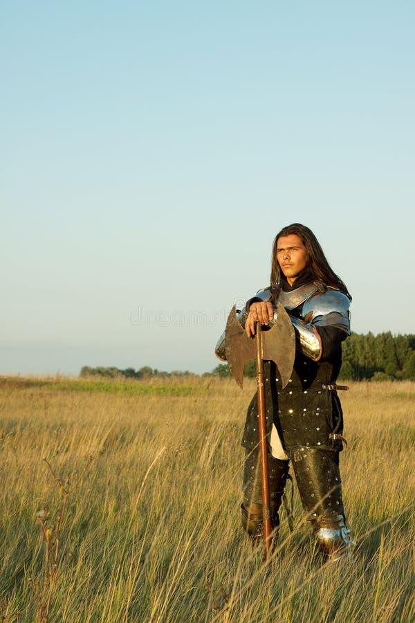 Cavaleiro medieval fotos de stock