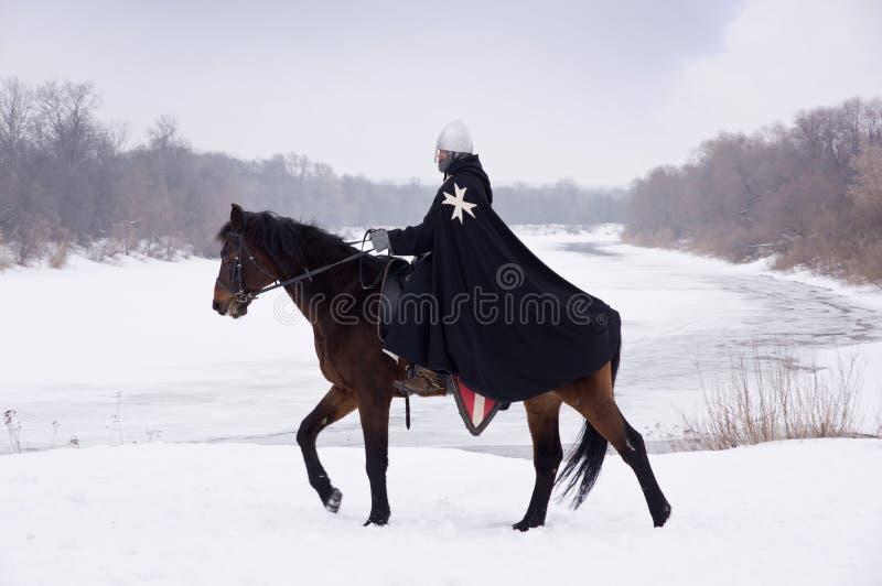 Cavaleiro medieval de St. John (Hospitallers) fotos de stock