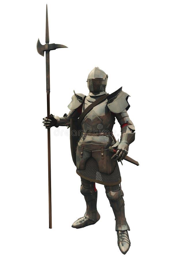 Cavaleiro medieval do décimo quinto século ilustração stock