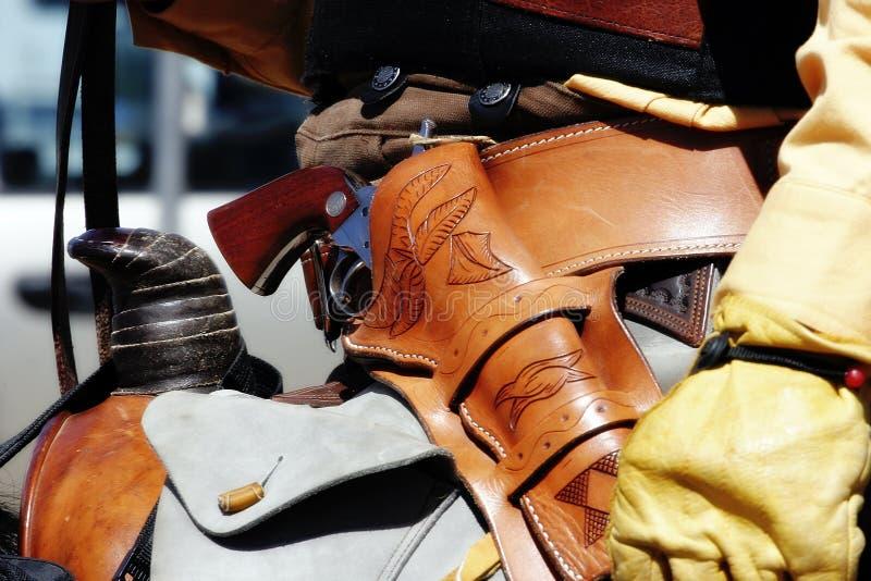 Cavaleiro montado com revólver #2 fotografia de stock