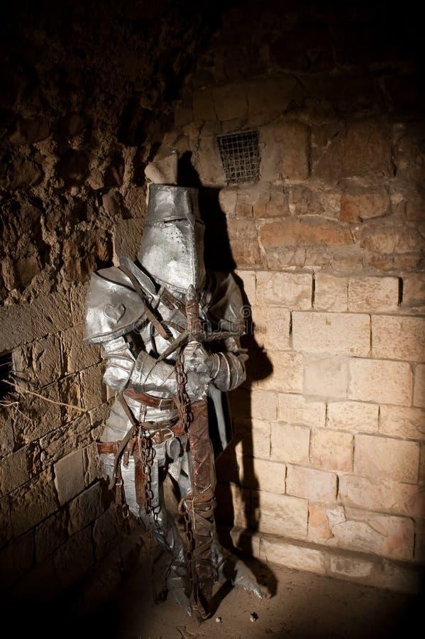 Cavaleiro na armadura foto de stock