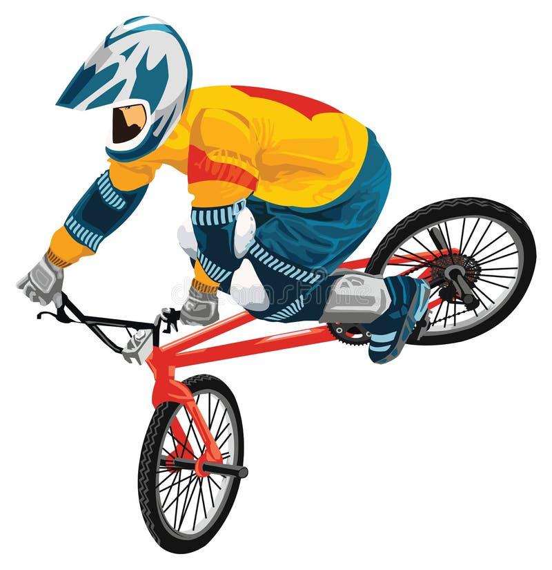 Cavaleiro novo da bicicleta ilustração stock