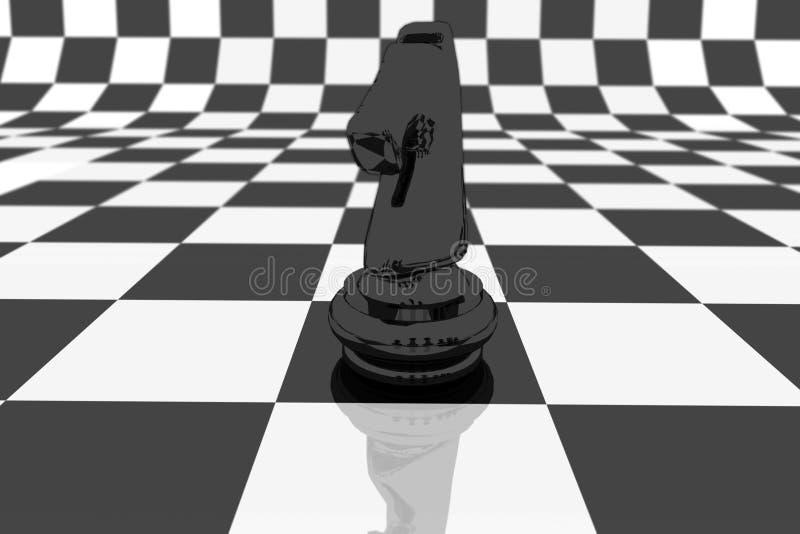 Cavaleiro preto ilustração do vetor