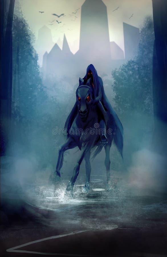 Cavaleiro preto ilustração royalty free