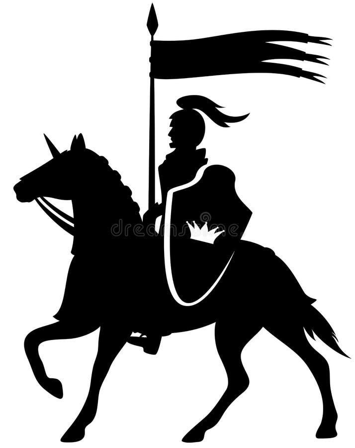 Cavaleiro real ilustração do vetor