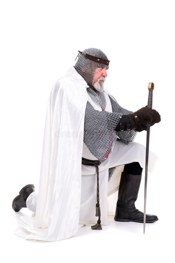 Cavaleiro Templar fotografia de stock