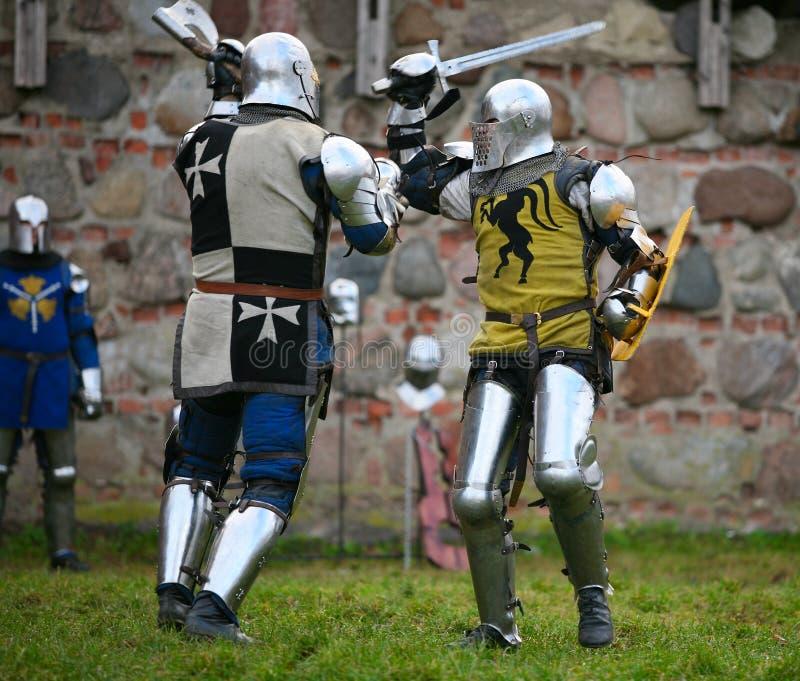 Cavaleiros foto de stock
