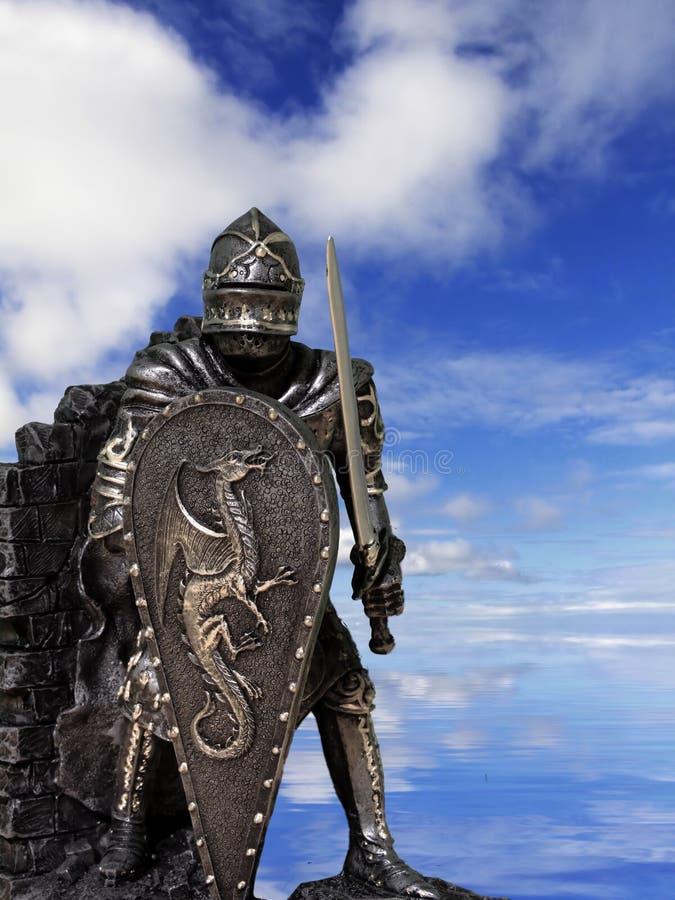 Cavaleiros & armadura imagens de stock